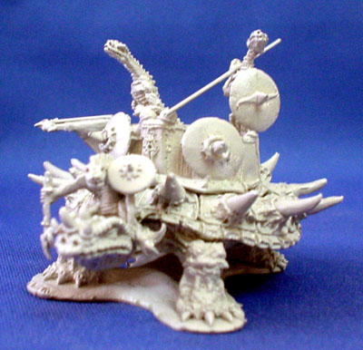 Reptiliad War turtle with howdah