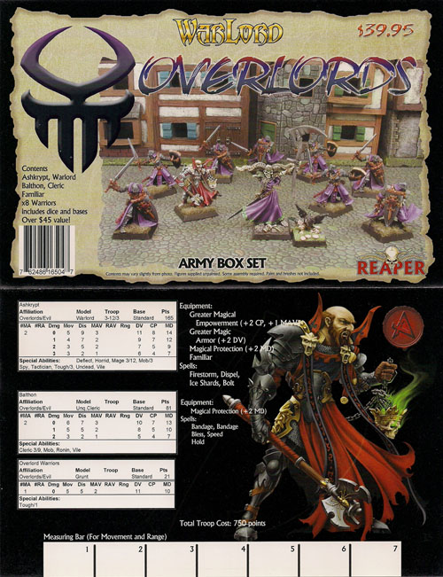 Warlord: Overlords of Craclaw Starter Boxed Set